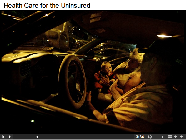 Healthcare for the Uninsured - Waiting in car
