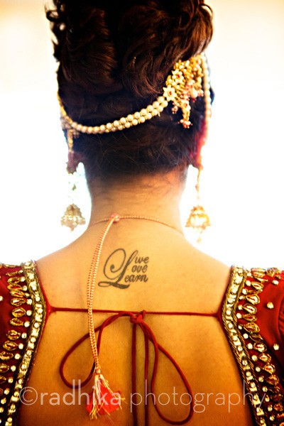 Indian wedding in New Jersey, tattoo