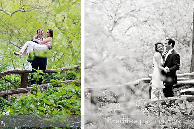 nyc central park wedding portrait
