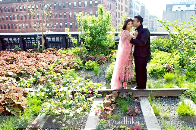 nyc highline engagement portraits