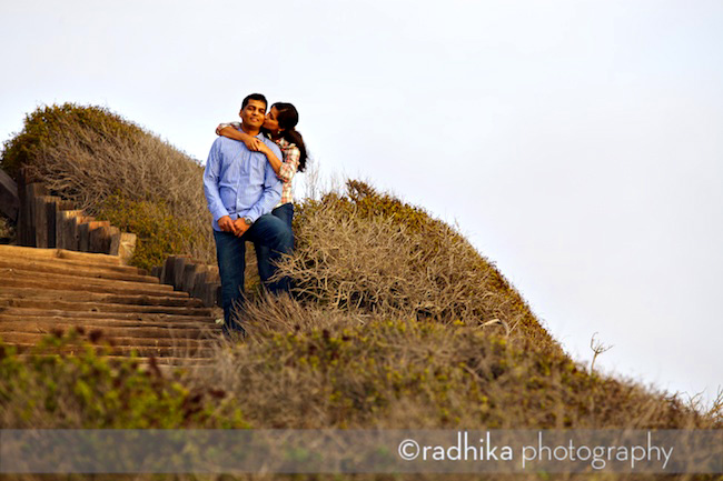crystal cove beach engagement portrait