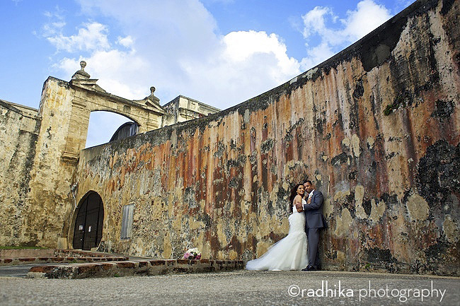 san juan destination wedding portrait